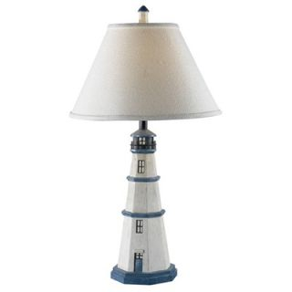 Kenroy Home Nantucket Light House Table Lamp in Antique White