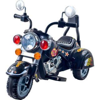 Lil Rider Wild Child Motorcycle in Black with Three Wheeler