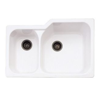 Rohl Undermount Kitchen Sink with Large Bowl in Matte Black Fireclay