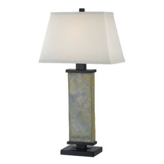 Kenroy Home Hanover One Light Table Lamp in Natural Slate