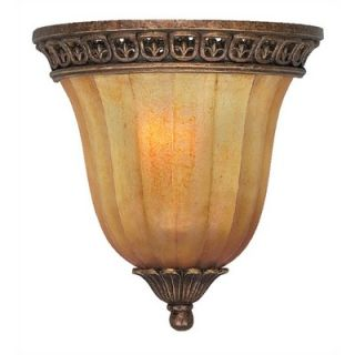 Crystorama Yorktown Hand Painted Wall Sconce in Espresso