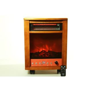 Infrared Heater Fireplace 1500W with Dual Heating System