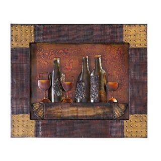 Howard Elliott Abstract Wall Plaque in Copper Bronze/Black