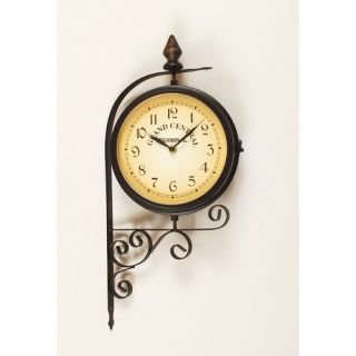Industries Antique Double Sided Wall Clock in Bute Bronze   125 036