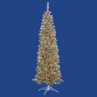 Vickerman 5.5 Artificial Pencil Christmas Tree in Champagne