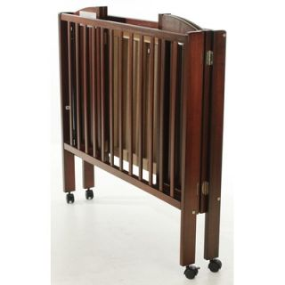 Dream On Me 2 in 1 Portable Folding Crib in Cherry
