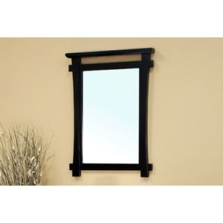 Bellaterra Home Tompkins Solid Wood Framed Mirror in Black   203012