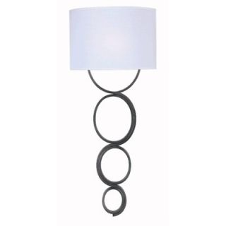 Kenroy Home Circo One Light Wallchiere in Weathered Steel