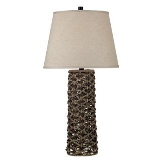 Kenroy Home Jakarta Table Lamp in Light/Dark Rope