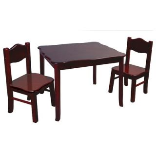 Guidecraft Classic Kids 3 Piece Table and Chairs Set