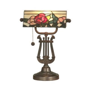 Dale Tiffany Broadview Bankers One Light Table Lamp in Antique Bronze