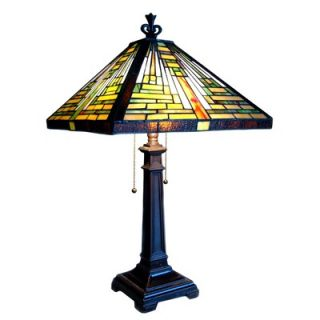 Chloe Lighting Tiffany Style Mission Table Lamp with 344 Glass Pieces