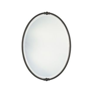 Feiss New London Beveled Mirror in Oil Rubbed Bronze   MR1044ORB