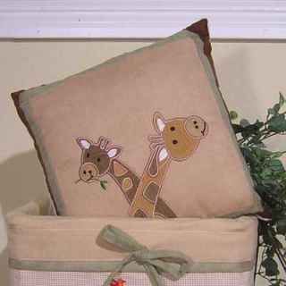 Brandee Danielle On Safari Giraffe Pillow