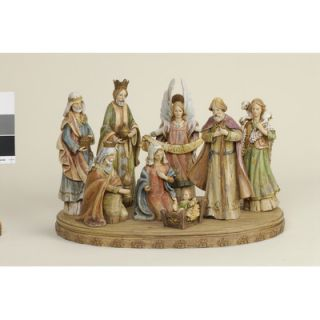 Roman, Inc. 8 Piece Nativity Set With Base