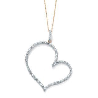 Palm Beach Jewelry Diamond Heart   Shaped Pendant