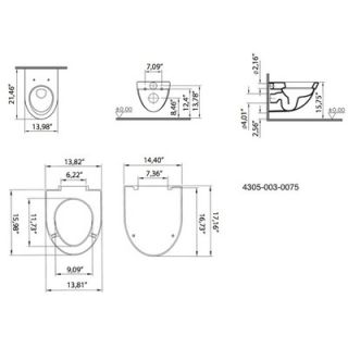 VitrA by Nameeks Form500 Wall Mounted Toilet in White   Vitra 4305