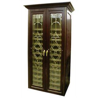Vinotemp 440 Two Door Bonaparte Oak Wine Cooler Cabinet