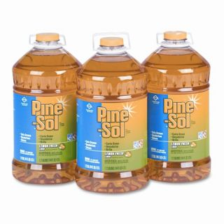 Pine Sol All Purpose Cleaner, Lemon Scent, 144oz. Bottle, 3/carton