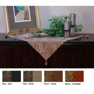 Pacific Table Linens Timeless Paisley Reversible Square Table Topper