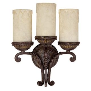 Capital Lighting Highlands Three Light Wall Sconce with Rust Scavo