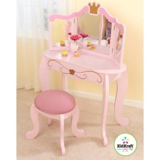 KidKraft Princess 12.75 Vanity Table and Stool