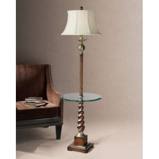Quoizel Salamander Art Glass Floor Lamp in Medici Bronze