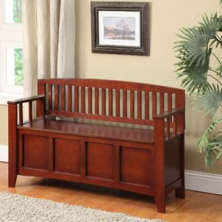 Linon Cynthia Solid Wood Storage Entryway Bench   83985WAL 01 KD U