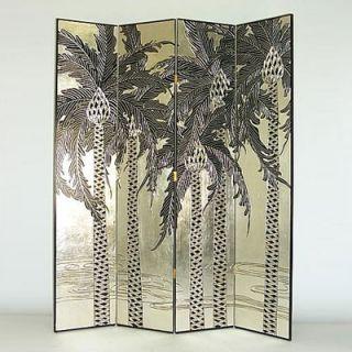Wayborn Silver Palm Trees Room Divider