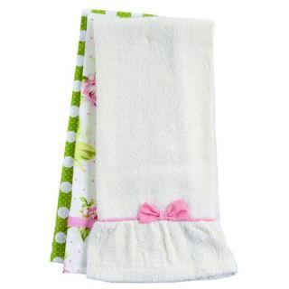 Jessie Steele Pink Cottage Rose Towel Trio   715 JS 158P
