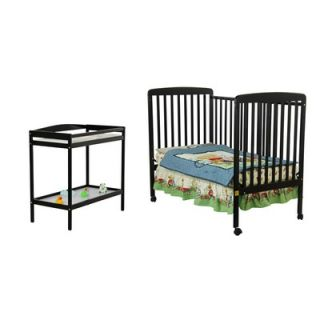 Dream On Me Two in One Crib and Changing Table Combo in Black   678