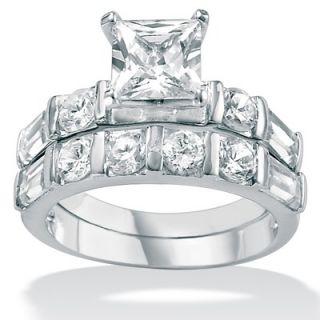 Palm Beach Jewelry Cubic Zirconia Platinum / Sterling Silver Wedding