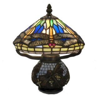 Warehouse of Tiffany Dragonfly Style Table Lamp in Bronze   GB 32+SS