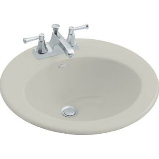 Kohler Radiant Self Rimming Bathroom Sink in Ice Grey with 4 Centers