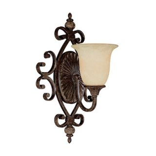 Capital Lighting Manchester One Light Wall Sconce with Rust Scavo