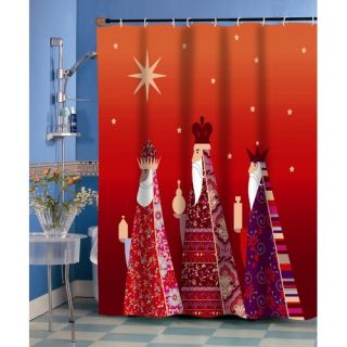 Three Kings Fabric Holiday Shower Curtain