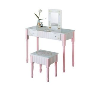 Teamson Kids Bouquet Vanity Table and Stool Set