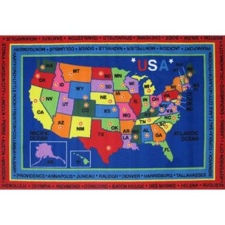 Fun Rugs Fun Time State Capitals Classroom Kids Rug   FT   184