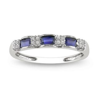 Amour White Gold Diamonds and Sapphire Eternity Ring   RDGKTW262049S