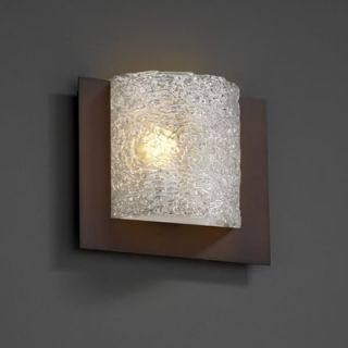 Justice Design Group Framed Veneto Luce Square 3 Sided Wall Sconce