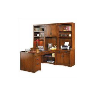 Home Styles Bedford 2 Drawer L Shape Desk Office Suite   5531 165