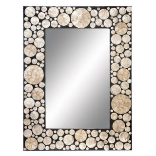 Aspire 40 Capiz Shell Rectangle Wall Mirror