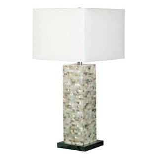 Kenroy Home Pearl One Light Table Lamp in Brushed Steel   32025MOP
