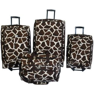 American Flyer Animal Print 4 Piece Luggage Set   83000 4 GBRN