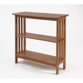 Manchester Wood Console Bookcase in Golden Oak