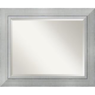 Amanti Art Romano Large Mirror in Burnished Silver   DSW01041