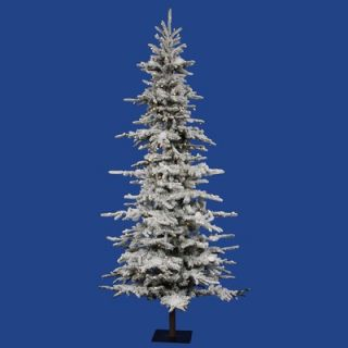 Vickerman Flocked Georian Fir 7.5 Artificial Christmas Tree with LED