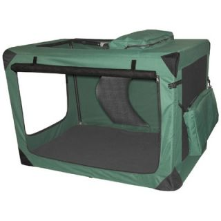 Pet Gear Generation II Deluxe Portable Soft Dog Crate in Moss Green