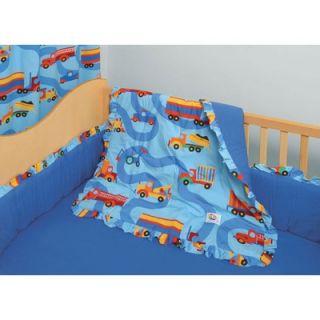 Room Magic Boys Like Trucks 4 Piece Crib Bedding Set