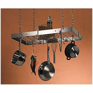 Rogar Stainless Steel Pot Rack w/ Grid and Optional Additional Pot